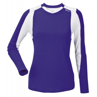 DUC Roll Women's Longsleeve (Purple/ White)