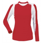 DUC Roll Women's Longsleeve (Red/ White) - DUC Team Tennis Apparel