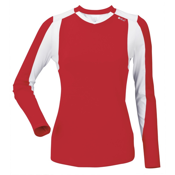DUC Roll Women's Longsleeve (Red/ White)