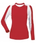 DUC Roll Women's Longsleeve (Red/ White) - DUC Tennis Apparel