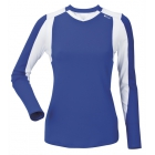 DUC Roll Women's Longsleeve (Royal/ White) - DUC Women's Team Tennis Tops