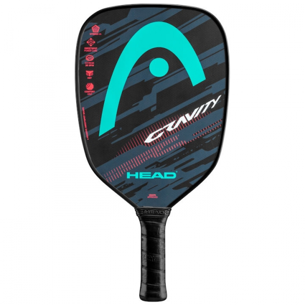 Head Gravity Pickleball Paddle (Teal/Lava)
