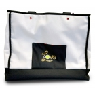 40 Love Courture White Canvas Tennis Tote - 40 Love Courture Tennis Bags