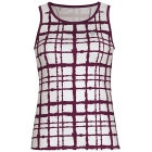 DUC Absolute Women's Racer Tank (White/ Maroon) - Women's Sleeveless Shirts