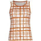 DUC Absolute Women's Racer Tank (White/ Orange) - Discount Tennis Apparel