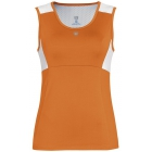 DUC Look-Out Women's Tank (Orange/ White) - Women's Tennis Apparel