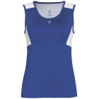 DUC Look-Out Women's Tank (Royal/ White) - DUC Team Tennis Apparel