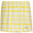 DUC Chaos Women's Power Skirt (White/ Gold) - DUC Tennis Apparel
