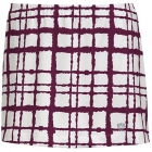 DUC Chaos Women's Power Skirt (White/ Maroon) - DUC Tennis Apparel
