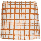 DUC Chaos Women's Power Skirt (White/ Orange) - Women's Tennis Apparel
