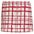 DUC Chaos Women's Power Skirt (White/ Red) - DUC Tennis Apparel