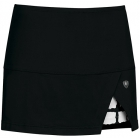 DUC Peek-A-Boo Women's Power Skirt (Black/ White) - DUC Tennis Apparel