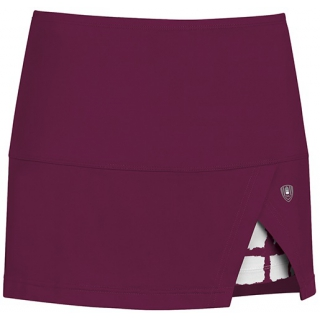 DUC Peek-A-Boo Women's Power Skirt (Maroon/ White)