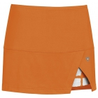 DUC Peek-A-Boo Women's Power Skirt (Orange/ White) - DUC Tennis Apparel