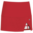 DUC Peek-A-Boo Women's Power Skirt (Red/ White) - DUC Team Tennis Apparel