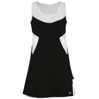 DUC Tease Women's Dress (Black/ White) - DUC Team Tennis Apparel