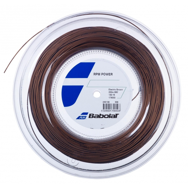 Babolat RPM Power 16g Tennis String Reel (Electric Brown)