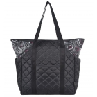 cinda b Rosalita Black Tennis Court Bag - 3 Racquet Tennis Bags