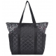 cinda b Rosalita Black Tennis Court Bag - Designer Tennis Bags - Luxury Fabrics and Ultimate Functionality