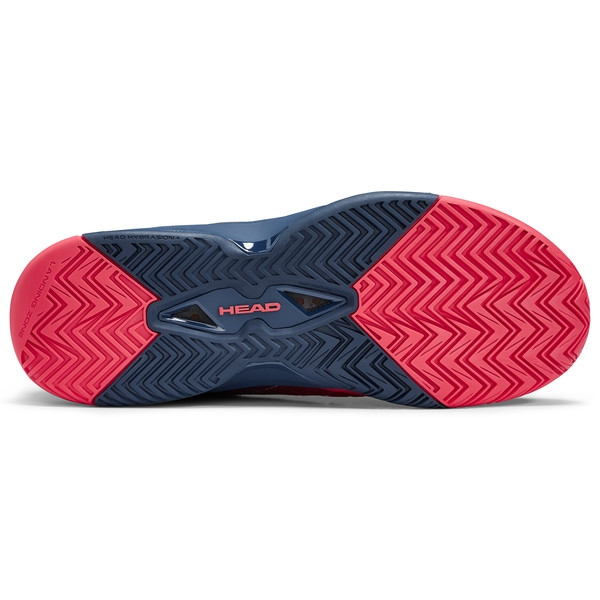Head Men's Revolt Pro 3.0 Tennis Shoes (Red/Dark Blue)