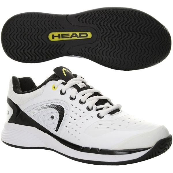 Head Men's Sprint Pro Tennis Shoes (White/ Black)
