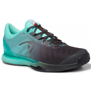 Head Men's Sprint Pro 3.0 Tennis Shoes (Black/Teal)