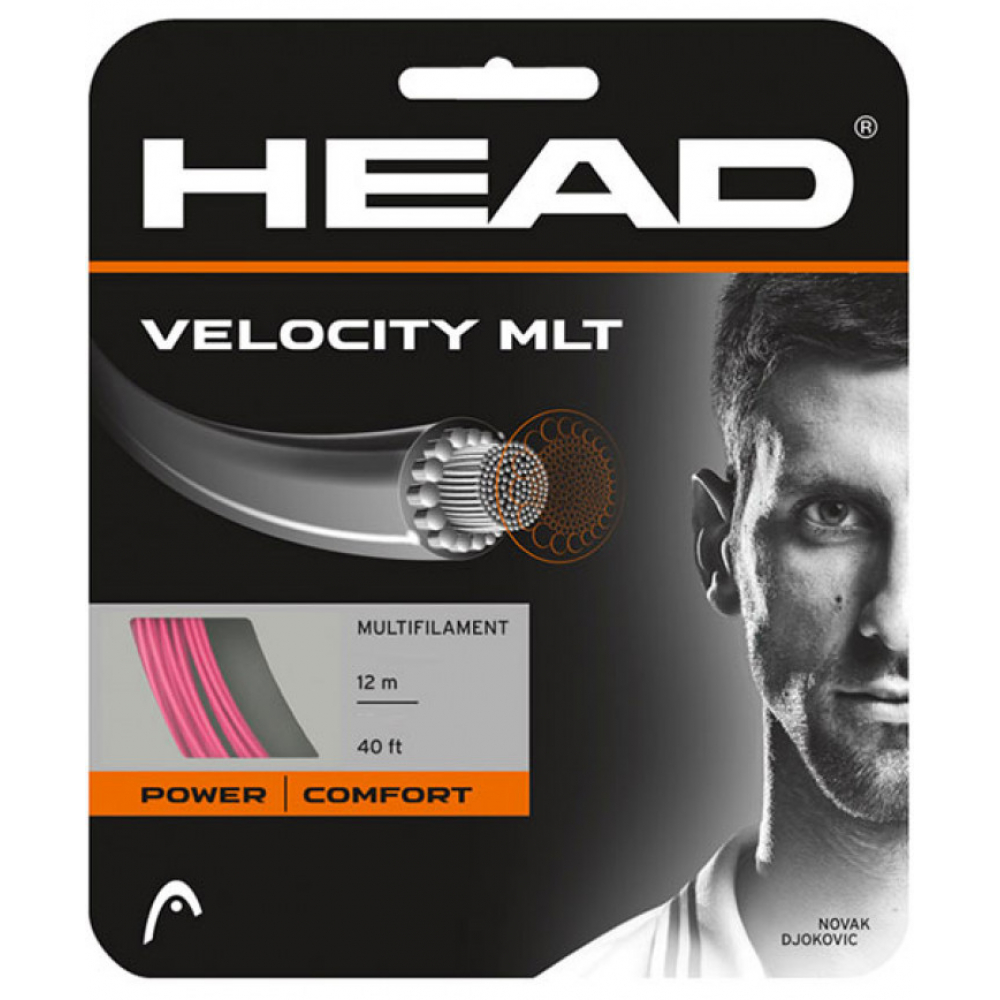 Head Velocity MLT 16g Pink Tennis String (Set)