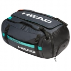 Head Gravity 12 Racquet Tennis Duffle Bag (Black/Teal) - NEW: Head Gravity Tennis Racquets, Bags & Accessories