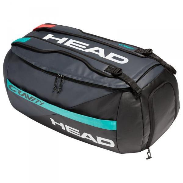 Head Gravity 6 Racquet Tennis Sport Bag (Black/Teal)