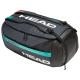 Head Gravity 6 Racquet Tennis Sport Bag (Black/Teal) - Tennis Travel Duffel Bags
