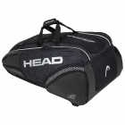 HEAD Djokovic 12R Monstercombi Tennis Bag (Black/White) - Specials & Deals on Premium Tennis Gear