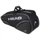 HEAD Djokovic 6R Combi Tennis Bag (Black/White) - Specials & Deals on Premium Tennis Gear