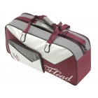 Head Maria Sharapova Court Tennis Bag (Maroon/ White/ Grey) - 3 Racquet Tennis Bags