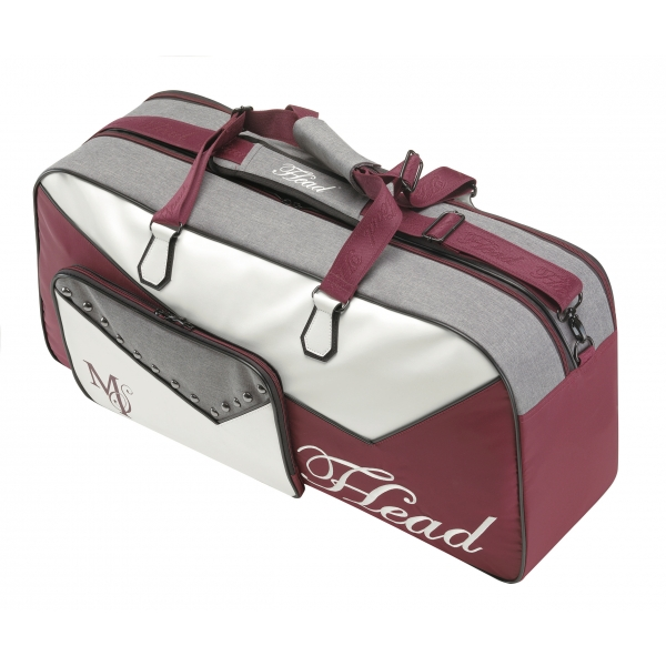 Head Maria Sharapova Court Tennis Bag (Maroon/ White/ Grey)