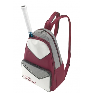 Head Maria Sharapova Womens Tennis Backpack Pack (Maroon/ White/ Grey)