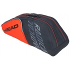 Head Radical 6R Combi Tennis Bag (Orange/Grey) - Head Radical Series Tennis Racquet Bags