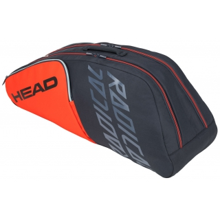 Head Radical 6R Combi Tennis Bag (Orange/Grey)