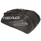 Head Tour Team 12R Monstercombi Tennis Bag (Black/Silver) - HEAD Summer Bag Special!