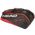 Head Tour Team 9R Supercombi Tennis Bag (Black/Red) - Head Tennis Bags