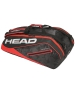 Head Tour Team 9R Supercombi Tennis Bag (Black/Red) - Head Tour Team Backpack and Bag Series