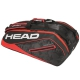 Head Tour Team 12R Monstercombi Tennis Bag (Black/Red) - Head Tennis Bags