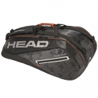 Head Tour Team 9R Supercombi Tennis Bag (Black/Silver) - HEAD Summer Bag Special!