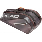 Head Tour Team 9R Supercombi Tennis Bag (Black/Silver) - Head Tennis Bags