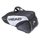 HEAD Djokovic 6R Combi Tennis Bag (Black/White) -