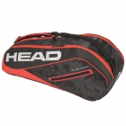 Head Tour Team 6R Combi Tennis Bag (Black/Red) - HEAD Summer Bag Special!