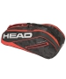 Head Tour Team 6R Combi Tennis Bag (Black/Red) - Head Tour Team Backpack and Bag Series