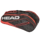 Head Tour Team 6R Combi Tennis Bag (Black/Red) - Head Tennis Bags