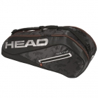 Head Tour Team 6R Combi Tennis Bag (Black/Silver) - HEAD Summer Bag Special!
