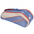 Head Tour Team 6R Combi Tennis Bag (Light Blue/Sand) - 6 Racquet Tennis Bags