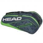 Head Tour Team 6R Combi Tennis Bag (Navy/Green) - 6 Racquet Tennis Bags